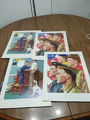 $ CDN32.43 • Buy 2 Norman Rockwell Boy Scout Print GROWTH OF A LEADER& 2 Keep Strong 1966