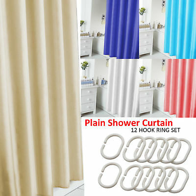 Extra Long Shower Curtain Waterproof Polyester Fabric Bathroom Shower Curtains. • 5.55£