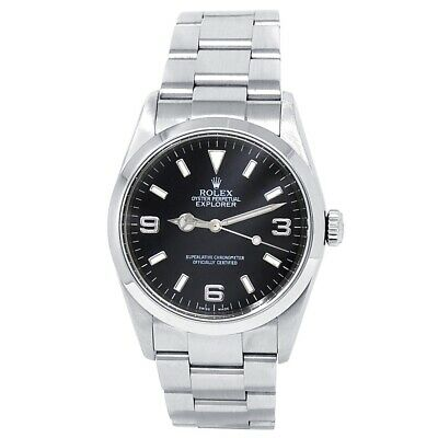 $ CDN10440.13 • Buy Rolex Explorer Stainless Steel Oyster Automatic Black Men's Watch 114270