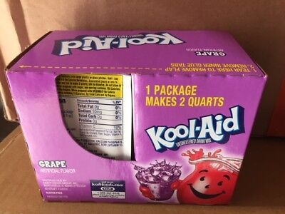 (24 Packs) Grape Kool-Aid Drink Mix Gluten Free Unsweetened Exp 10/2020 • 7.94£
