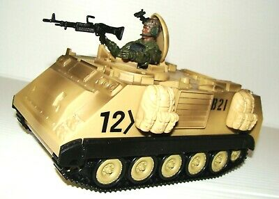 $25 • Buy 1:18 BBI Elite Force US Army M113 Desert Armored Personnel Carrrier APC Vehicle