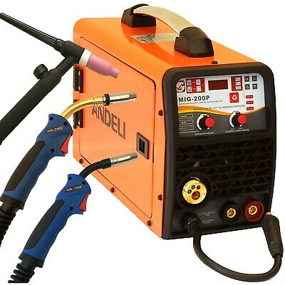 200a Pulse Mig Aluminium/flux/lift Tig/mma 5 In 1 Dc Inverter Welder Gas/gasless • 449.99£