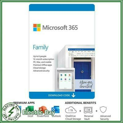 AU115 • Buy Microsoft 365 Family (Office Home Mac/Win) 1 Year Subscription 6GQ-01143 6 Users