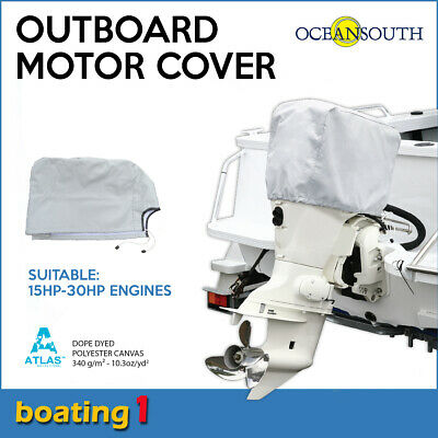 AU22.90 • Buy Outboard Motor Cover For 15HP -30HP Motors High Quality UV Proof - Oceansouth