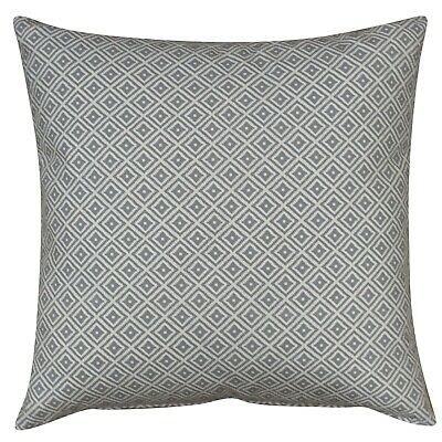 XL Geometric Ikat Cushion In Dove Grey. Double Sided. 23  Square. 100% Cotton. • 16.99£