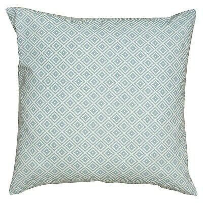 XL Geometric Ikat Cushion In Duck Egg Blue. Double Sided 23  Square. 100% Cotton • 16.99£
