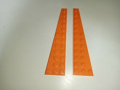 LEGO 47397 47398 WING WEDGE PLATE 3x12 ORANGE QTY X 1 PAIR BRAND NEW • 0.99£