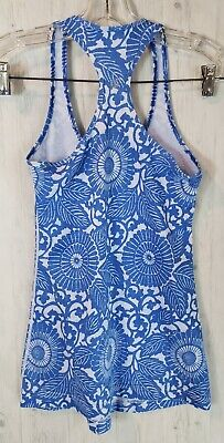 $ CDN35 • Buy Lululemon Cool Racerback Tank Size 4 Blue Beachy Floral Scoop Neck CRB Muscle