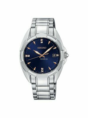 $ CDN348 • Buy Seiko Womens Diamond Accent Stainless Steel Blue Dial Watch SKK889P1 New In Box