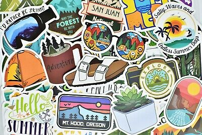 $7.99 • Buy 50 Hydro Flask Stickers Outdoors Stickers VSCO Girl Stickers VSCO Vinyl Stickers