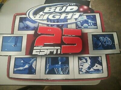 $ CDN59.44 • Buy Large Bud Light ESPN 25 Metal Sign Bedweiser