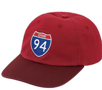 $ CDN116.77 • Buy Supreme Interstate 6-panel Red Hat Os Brand New, Fw20 Week 1 Authentic (in Hand)