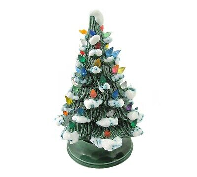 $ CDN78.48 • Buy Vintage Lighted Ceramic Christmas Tree 10   Nowell Mold 1977 Snow Branches