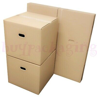 NEW *20 X LARGE Cardboard House Moving Boxes - Removal Packing Box *OFFER* 24HRS • 15.89£