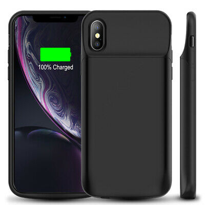 AU65.54 • Buy IPhone X/XR/XS Max 7 8 6500mah Battery Case Charging Cover Power Bank Shockproof