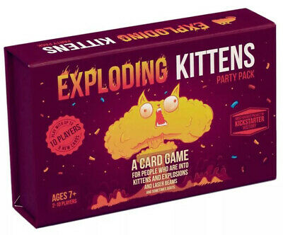 AU56 • Buy Exploding Kittens Party Pack Party Card Game Brand New
