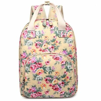 Matte Oilcloth Multipocket School Bag - Yellow • 20£