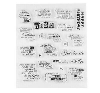 18 Birthday Clear Stamps-famous Quotes-old Age Greetings Words Stamp-card/craft • 5.25£