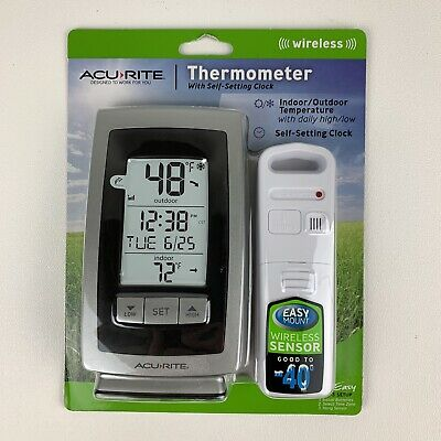 $18.99 • Buy Acurite Wireless Thermometer W/ Indoor & Outdoor Temperature NEW