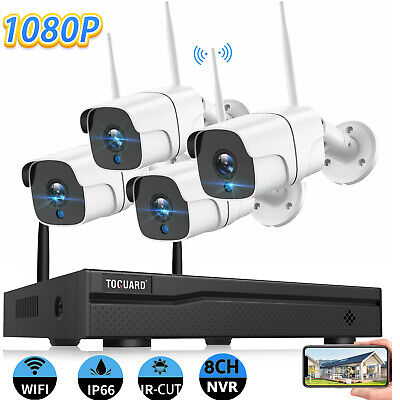 AU195.52 • Buy 8CH CCTV System Wireless Home IP Security Camera Outdoor NVR 1080P HD Waterproof