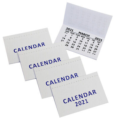 £1.19 • Buy 2021 Mini Calendar Tab Pads Tear Off Sheets Month To View Christmas XMAS Craft
