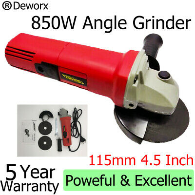 850W Corded Electric Angle Grinder 115mm Heavy Duty Cutting Grinding 240V 4.5inc • 16.90£
