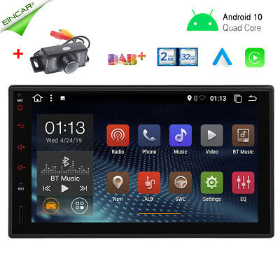 AU245.99 • Buy Universal 7  Android 10.0 Double 2 Din Car Radio Stereo Head Unit GPS + Camera