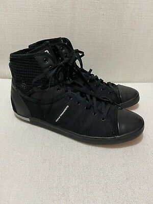 AU180 • Buy YOHJI YAMAMOTO Y3 - Black High Top Sneakers - Canvas/Leather/Mesh - Sz8.5