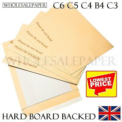 £76.99 • Buy Do Not Bend Envelopes A3 A4 A5 A6 C5 Hard Card Board Backed Small Large Manilla