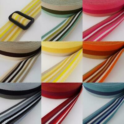 Webbing Double-Sided Stripe: 40mm Wide Bag Strapping. Various Colours. Per M. • 2.80£