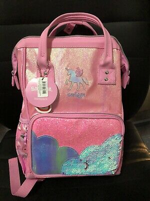 AU59.95 • Buy Smiggle Lunar Dimi Unicorn And Sequin Backpack
