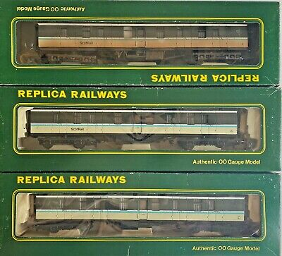 Replica Railways 00 Gauge - Rake Of 3 Assorted 'scotrail' Mk1 Coaches Boxed • 49.99£
