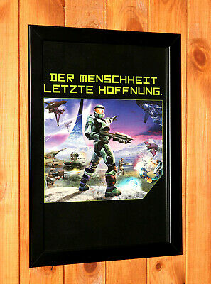£37.60 • Buy 2002 Halo Combat Evolved Xbox Promo Rare Small Vintage Poster / Ad Art Framed.