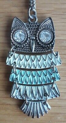£4 • Buy Topshop Freedom Jewellery Owl Necklace -  Multicoloured