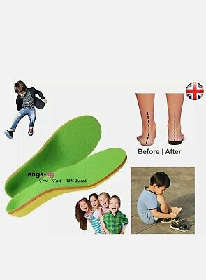 Children Flat Feet Orthotic Arch Heel Support  Insoles Shoes Size UK 7.5-10.5 • 3£