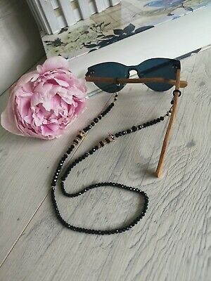 £9.99 • Buy Sunglasses Glasses Spectacles Chain Beads Holder Crown KC Gold