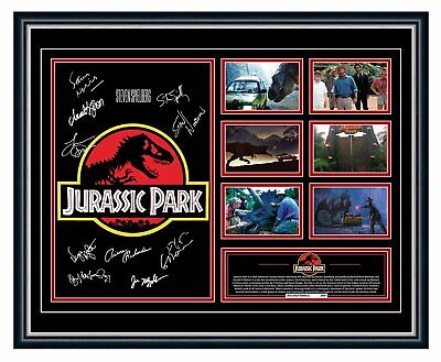 AU99.99 • Buy Jurassic Park Original 1993  Signed Poster Limited Edition Framed Memorabilia
