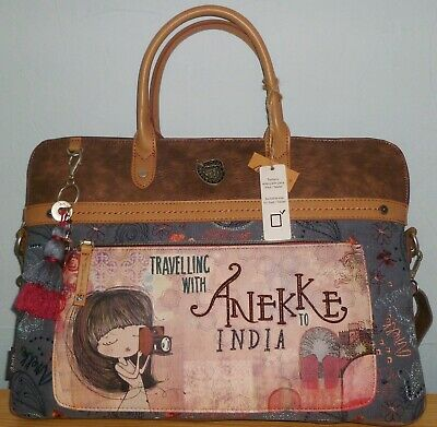 Travelling With Anekke To India Crossbody Briefcase Travel Bag (iPad Laptop) • 68£