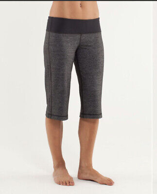 $ CDN50 • Buy LULULEMON ATHLETICA  Heathered Deep Coal CLAM DIGGER CROP PANTS/ SHORTS 6-8 MED
