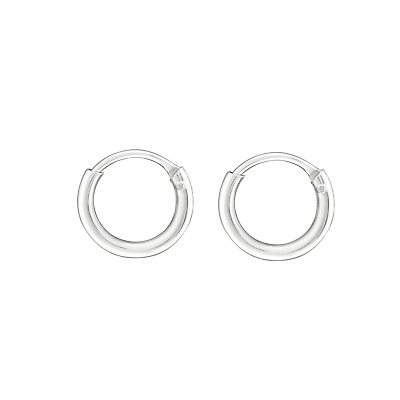 AU10.95 • Buy 925 Sterling Silver Tiny Sleeper 8mm Endless Hoop Huggies Hoops Men Women Girls
