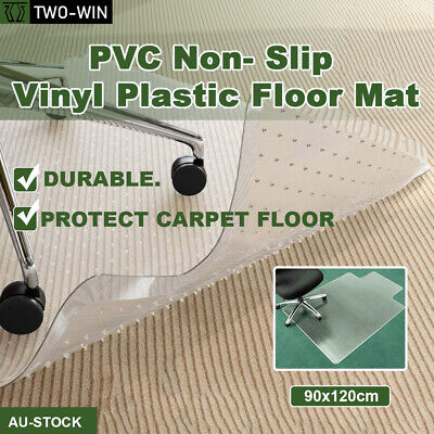 AU39.89 • Buy Carpet Floor Chair Mat Office Chairmat Vinyl Plastic Protector Wood 120x90cm AU