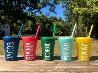 £14.39 • Buy Personalized Kids Tumblers - Customized Kids Cups - Party Favors Gifts Birthday
