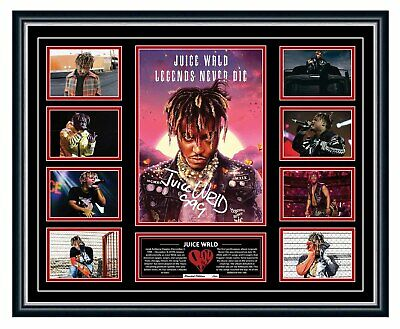 AU99.99 • Buy Juice Wrld 2020 Legends Never Die Signed Limited Edition Framed Memorabilia
