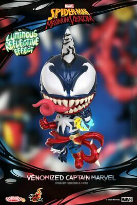 $ CDN56.21 • Buy Marvel Hot Toys COSB767 Venomized Captain Marvel Cosbaby Figure Toy