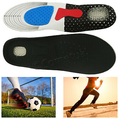 Pair Orthotic Insoles Gel Silicon Arch Support Plantar Fasciitis High Quality UK • 2.99£