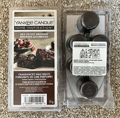 2 Packs YANKEE CANDLE Red Velvet Brownie Wax Melts Tarts - 12 In Total - New! • 12.99£
