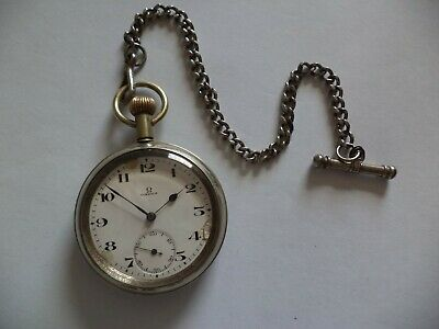 Air Ministry Ww 2 Omega  Pocket Watch -   Working  • 229£