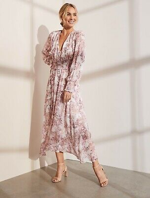 AU99.99 • Buy FOREVER NEW EVIE MIDI DRESS PINK FLORAL BN SZ 6 Wedding Party Cocktail