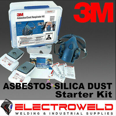 AU158.95 • Buy 3m Asbestos Silica Welding Respirator Kit P2 P3 6035 Filters Half Face Gas 7535