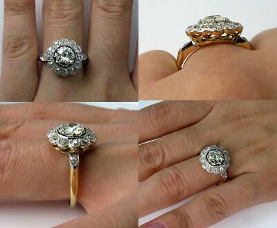 AU179.99 • Buy 5Ct Round Cut VVS1 Diamond Floral Vintage Engagement Ring 14k Yellow Gold Over